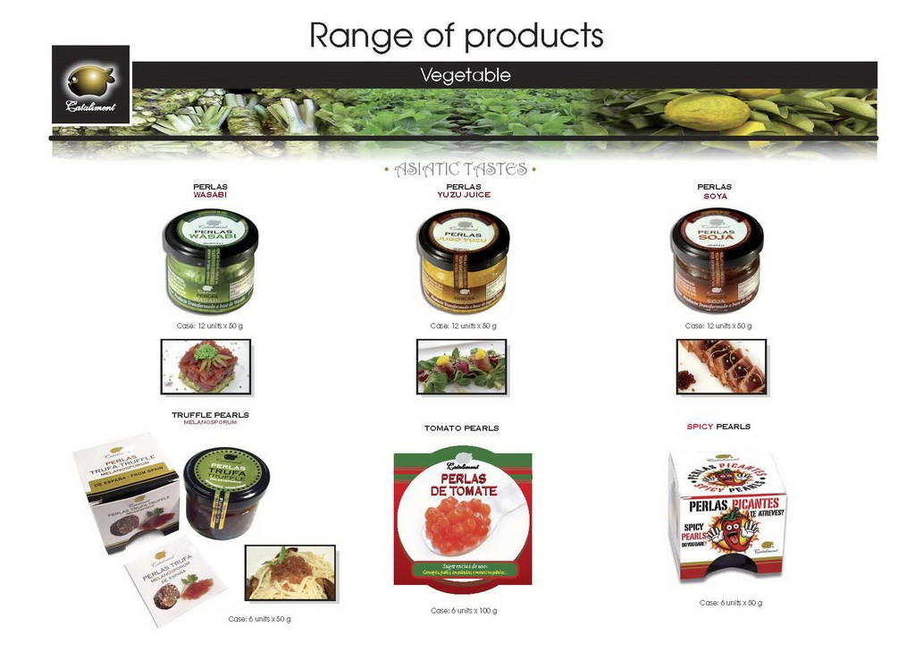 Cataliment product range 2016 - VEGETABLES