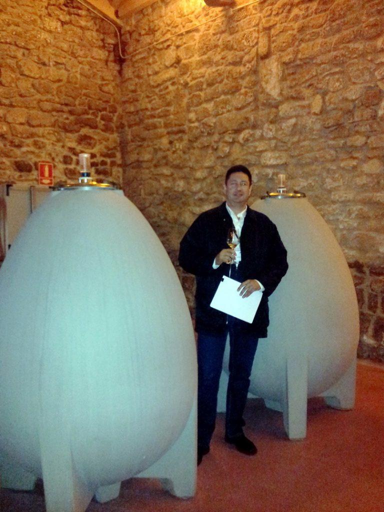 Concrete egg shape wine tanks