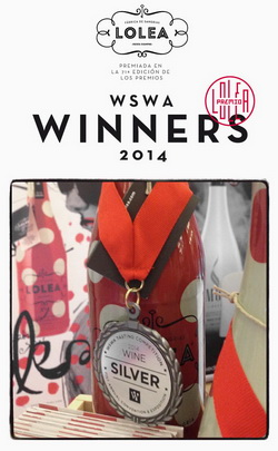 WSWA 2014 Wine Tasting Competition - Lolea Silver medal - small