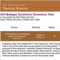 Torremoron-2013 Robert Parker 89