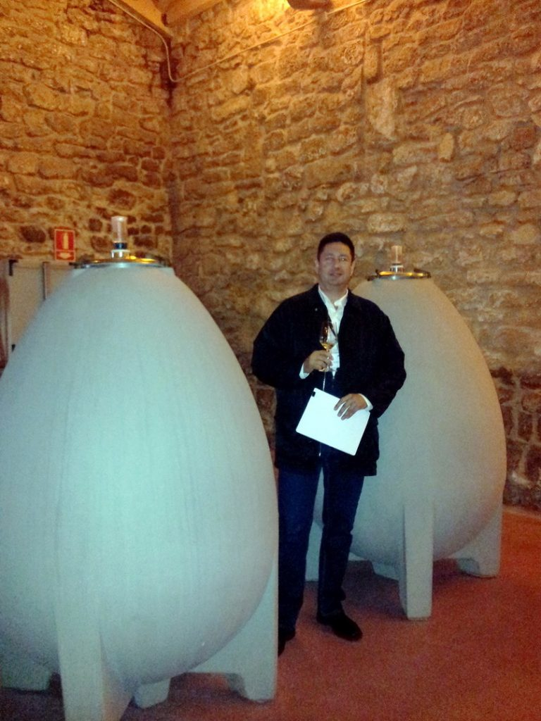 Concrete egg shape wine tanks